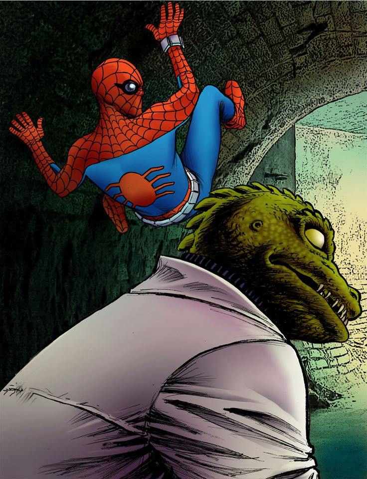 13 -What If Spidey fought The Lizard (with a CBS Star Trek mask - The Gorn) -I was thinking Russell Johnson, the Professor from Gilligan's Island...
