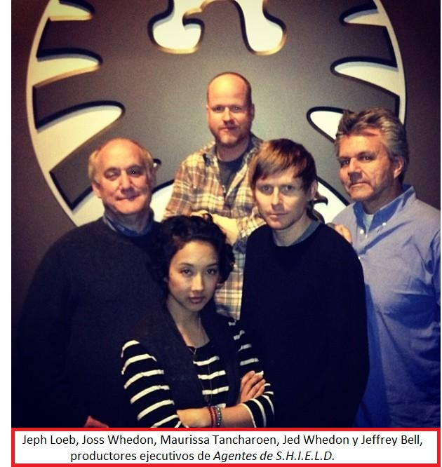 07 Jeph Loeb, Joss Whedon, Maurissa Tancharoen, Jed Whedon y Jeffrey Bell